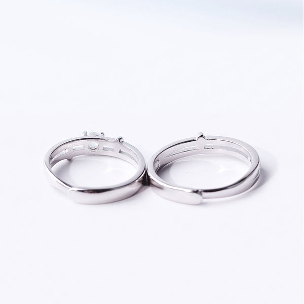 Moonstone Couple Rings Silver Lovers Jewelry Promise Rings Women Men birtstone