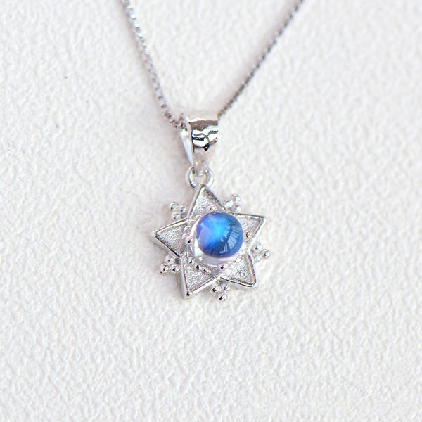 Moonstone Pendant Necklace June Birthstone Jewelry Sterling Silver Accessories Women adorable