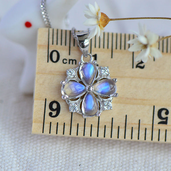 Moonstone Pendant Necklace June Birthstone Jewelry Sterling Silver Accessories Women chic