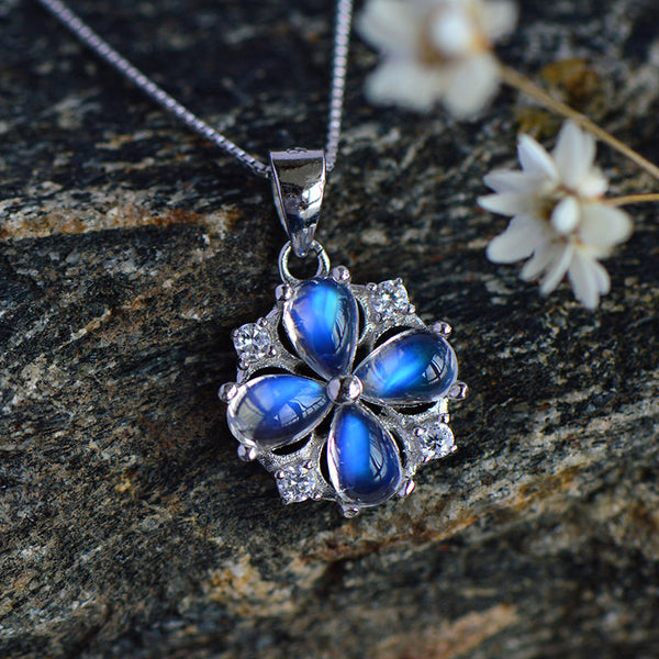 Moonstone Pendant Necklace June Birthstone Jewelry Sterling Silver Accessories Women