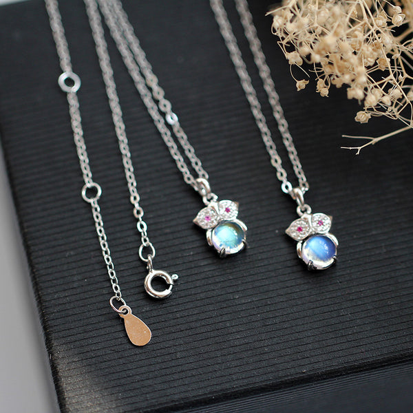 Moonstone Pendant Necklace Silver Handmade June Birthstone Gemstone Jewelry Women beautiful