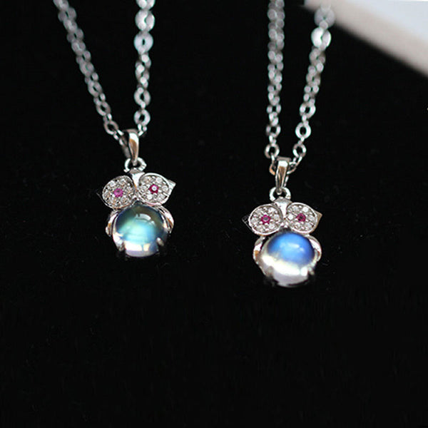 Moonstone Pendant Necklace Silver Handmade June Birthstone Gemstone Jewelry Women cute