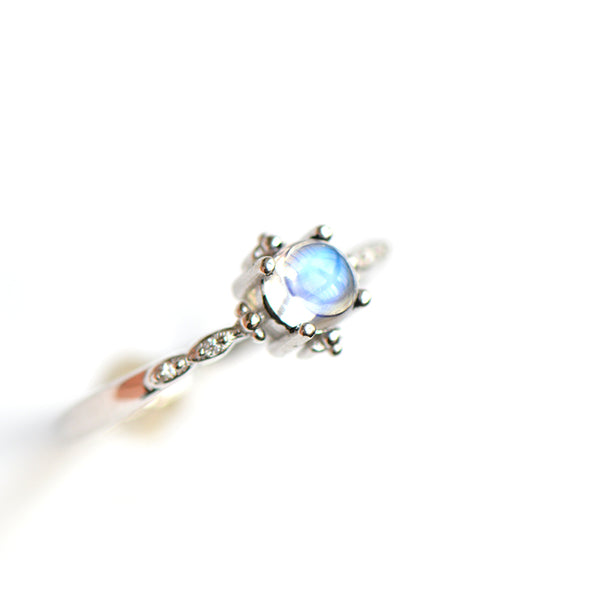 Moonstone Ring Gold Silver Engage Ring June Birthstone Women charming