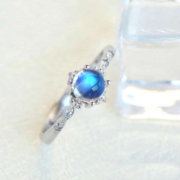 Moonstone Ring Gold Silver Engage Ring June Birthstone Women june birthstone
