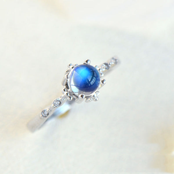 Moonstone Ring Gold Silver Engage Ring June Birthstone Women