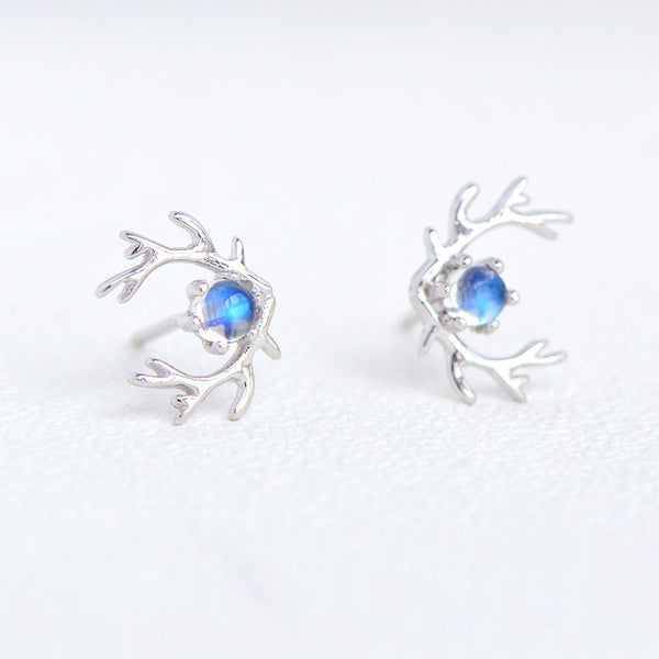 Moonstone Stud Earrings Gold Silver Jewelry Accessories Women charming