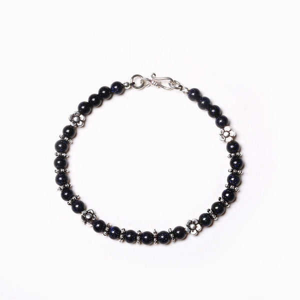 Obsidian Blue Sandstone Onyx Beaded Bracelets Handmade Gemstone Jewelry Accessories men women fashionable