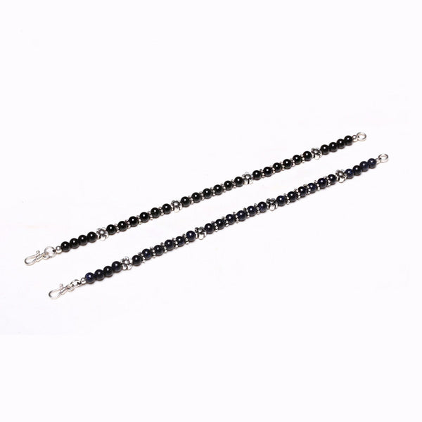 Obsidian Blue Sandstone Onyx Beaded Bracelets Handmade Gemstone Jewelry Accessories men women