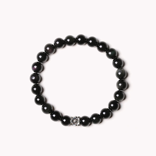 Obsidian Onyx Beaded Bracelets Handmade Gemstone Jewelry Accessories Women Men