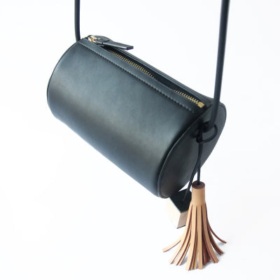 Original Womens Black Leather Crossbody Bags Leather Shoulder Bag Boutique