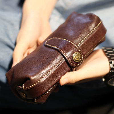 Original Womens Brown Leather Wallets Doctor Bag Clutch Wallet for Women cool