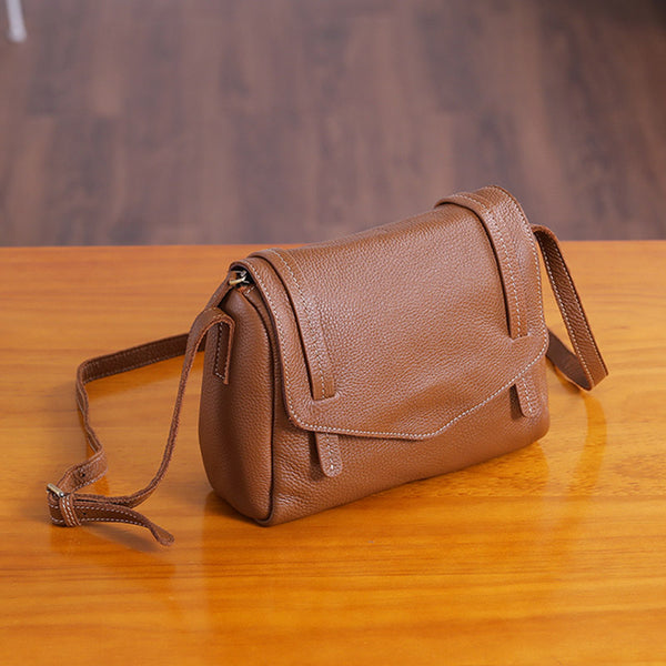 Original Womens Small Leather Satchel Bag Crossbody Bags Purse Cube Bag Minimalist