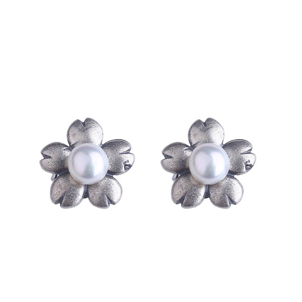Pearl Earrings Silver June Birthstone jewelry