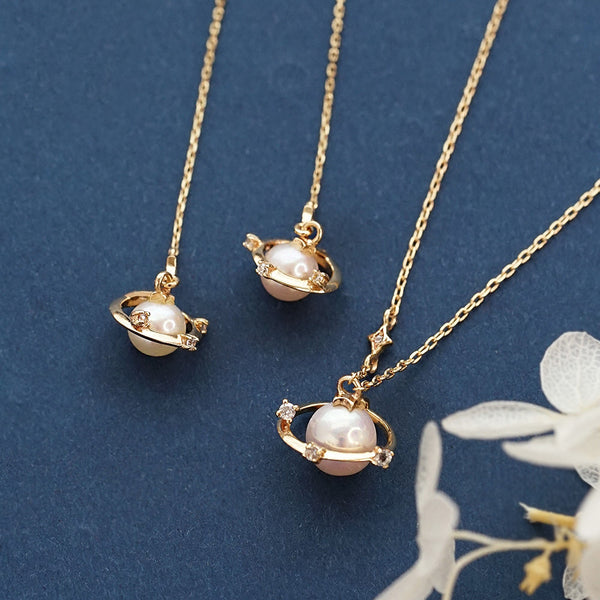 Pearl Pendant Necklace Gold Sterling Silver Jewelry Accessories Women adorable