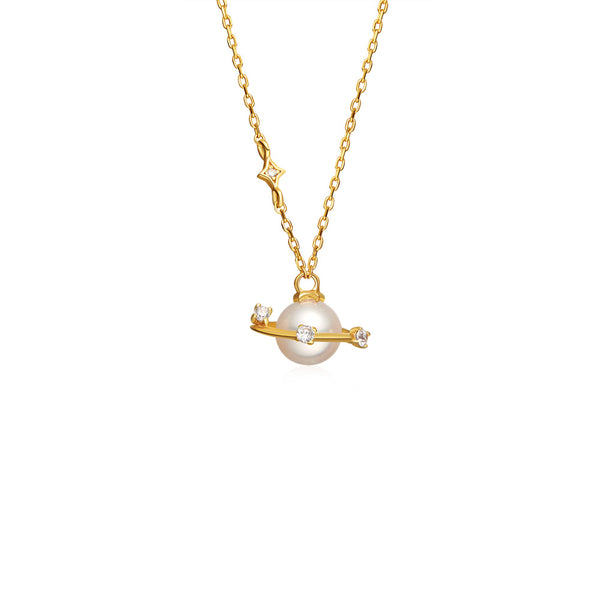 Pearl Pendant Necklace Gold Sterling Silver Jewelry Accessories Women chic