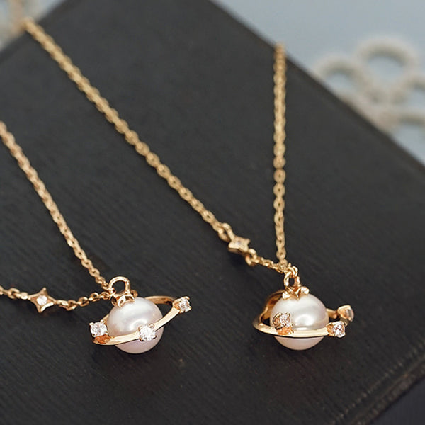 Pearl Pendant Necklace Gold Sterling Silver Jewelry Accessories Women cute