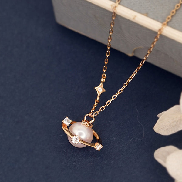 Pearl Pendant Necklace Gold Sterling Silver Jewelry Accessories Women elegant