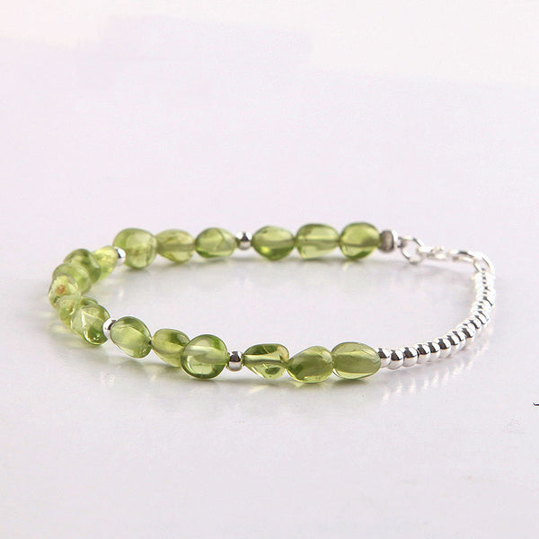 Peridot Beads Bracelets August Birthstone Handmade Gemstone Jewelry Accessories Gift for Women cute