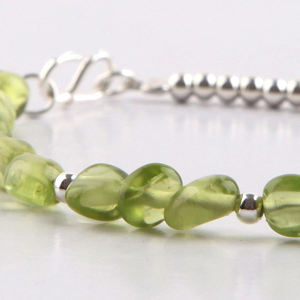 Peridot Bead Bracelets August Birthstone Handmade Gemstone Jewelry Accessories for Women
