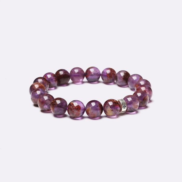 Purple Rutile Beaded Bracelets Handmade Jewelry Accessories Gift for Women Men