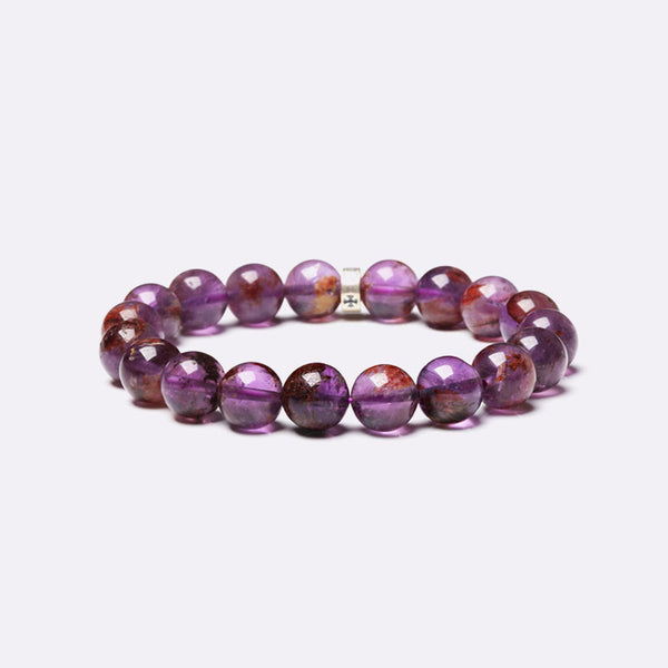 Purple Rutile Beaded Bracelets Handmade Jewelry Accessories Gift Women Men chic