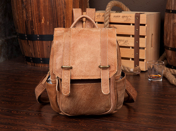 Quality Womens Small Brown Leather Backpack Purse Bags Backpacks for Women Designer
