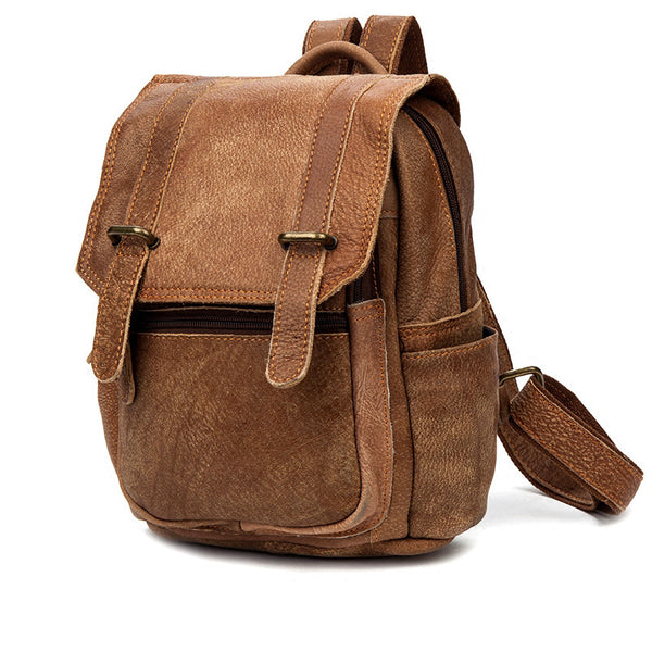 Quality Womens Small Brown Leather Backpack Purse Bags Backpacks for Women