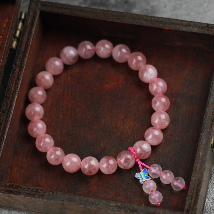 Rose Quartz Beaded Bracelet Handmade Gemstone Jewelry Accessories Gifts Women