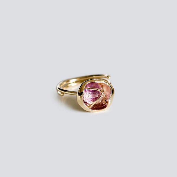 Rough Amethyst Ring Gold Cooper Handmade Feb Birthstone Jewelry Accessories Women