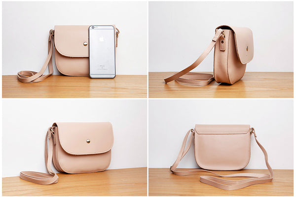 Stylish Womens Leather Saddle Bag Crossbody Bags Purse for Women work bag