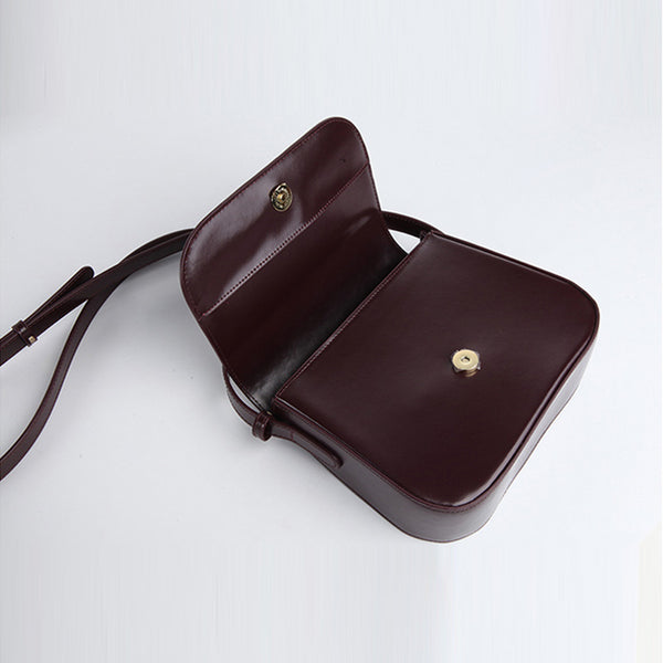 Simplify Womens Leather Saddle Bag Crossbody Bags Purse for Women Details
