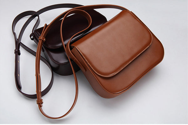 Simplify Womens Leather Saddle Bag Crossbody Bags Purse for Women mini