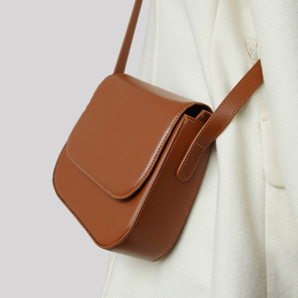 Simplify Womens Leather Saddle Bag Crossbody Bags Purse for Women work bag