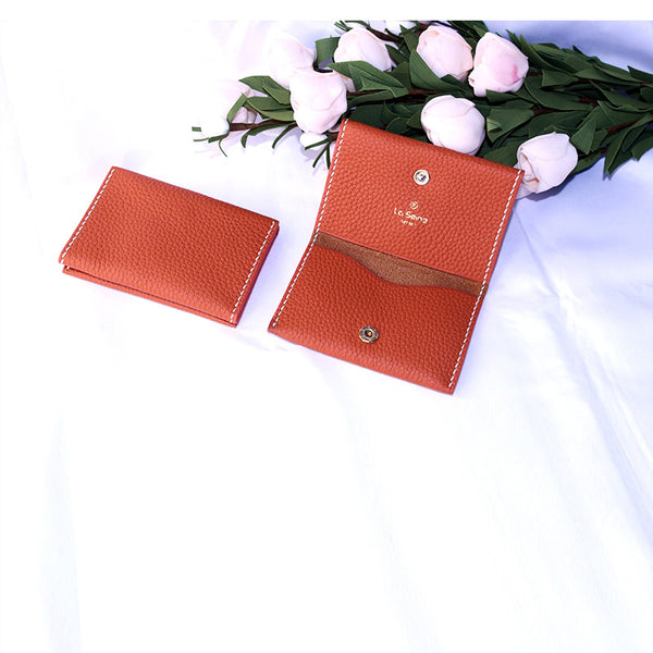Slim Leather Womens Card Wallet Purse Handmade Clutch for Women Boutique
