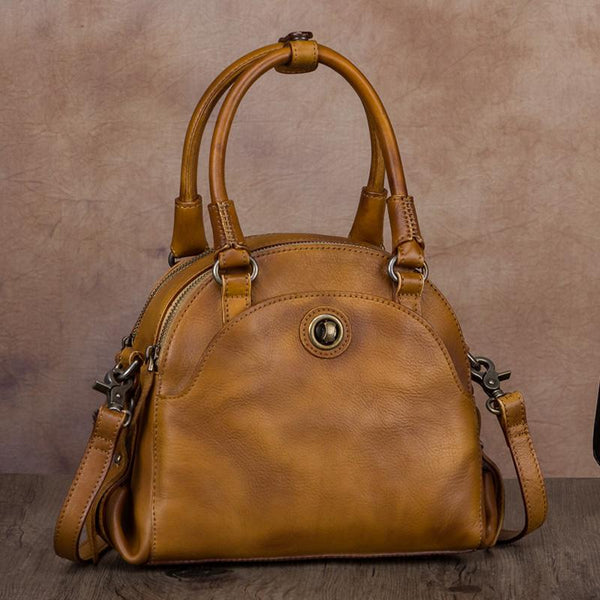 Small Ladies Cross Body Brown Leather Handbags