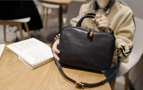 Small Leather Over the Shoulder Purse Bags Crossbody Handbags for Ladies cute