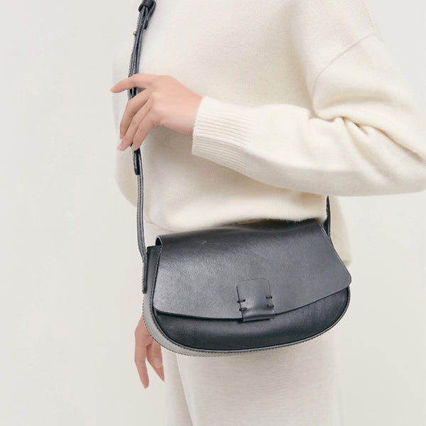 Small Leather Womens Saddle Bags Crossbody Bags Shoulder Bag for Women