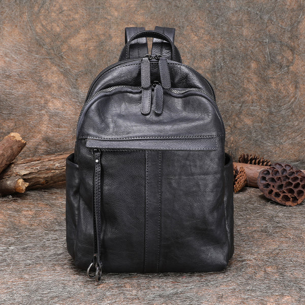 Small Women's Genuine Leather Backpack Bags Purse Stylish Backpacks for Women Affordable