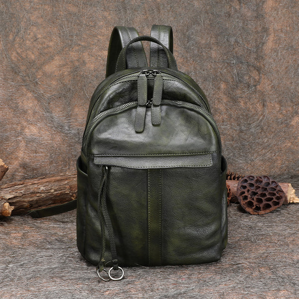 Small Women's Genuine Leather Backpack Bags Purse Stylish Backpacks for Women