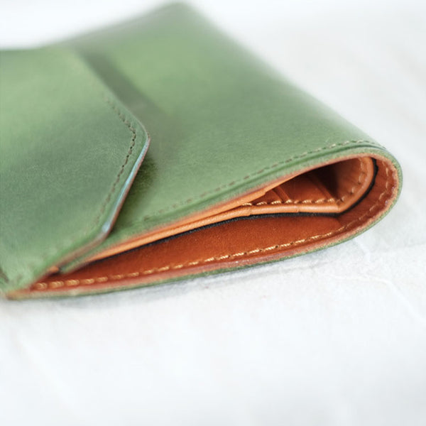 Small Women's Genuine Leather Billfold Wallet With Card Holder For Women Durable