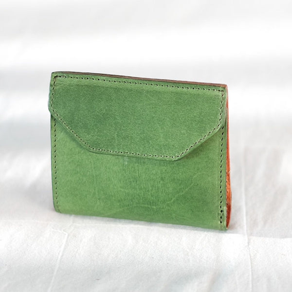 Small Women's Genuine Leather Billfold Wallet With Card Holder For Women Handmade