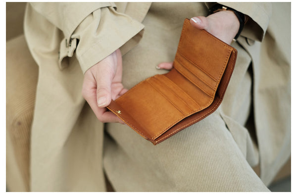 Small Women's Genuine Leather Billfold Wallet With Card Holder For Women Original