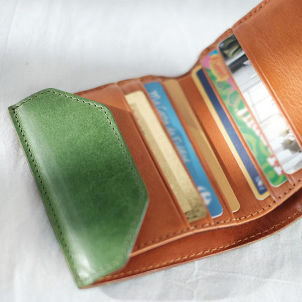 Small Women's Genuine Leather Billfold Wallet With Card Holder For Women Work bag