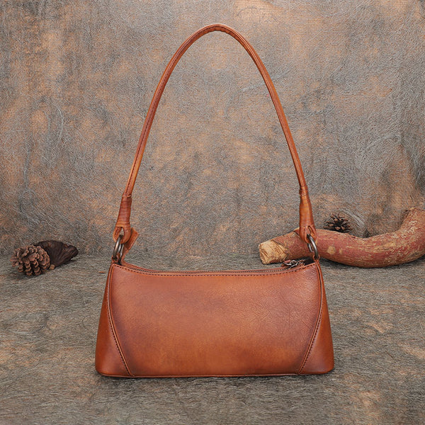Small Women's Genuine Leather Shoulder Bags Handbags for Women Beautiful