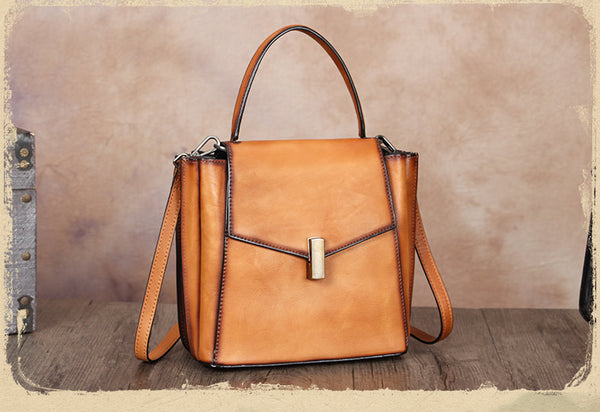 Small Women's Leather Satchel Handbags Purse Crossbody Bag for Women Designer