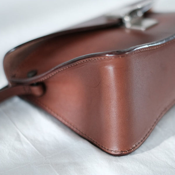 Small Women's Vintage Leather Crossbody Satchel Purse Shoulder Bag For Women Vintage