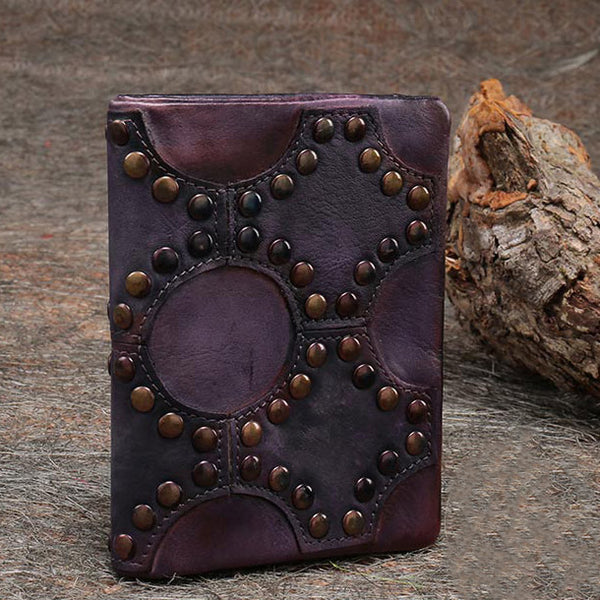 Small Women's Vintage Leather Wallet Billfolds Purse Ladies Leather Wallets cool