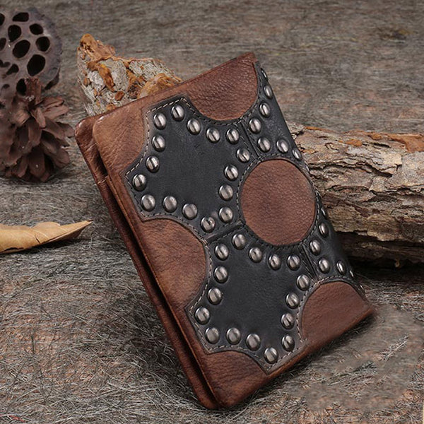 Small Women's Vintage Leather Wallet Billfolds Purse Ladies Leather Wallets gift