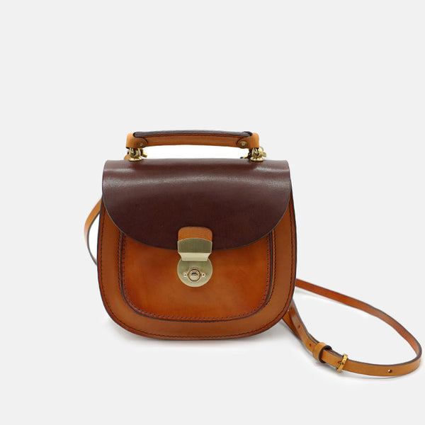 Small Womens Brown Leather Crossbody Bags