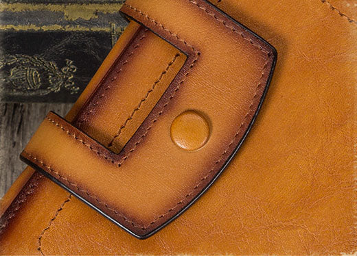 Small Womens Designer Leather Wallet With Zip Around Coin Purse for Women Durable